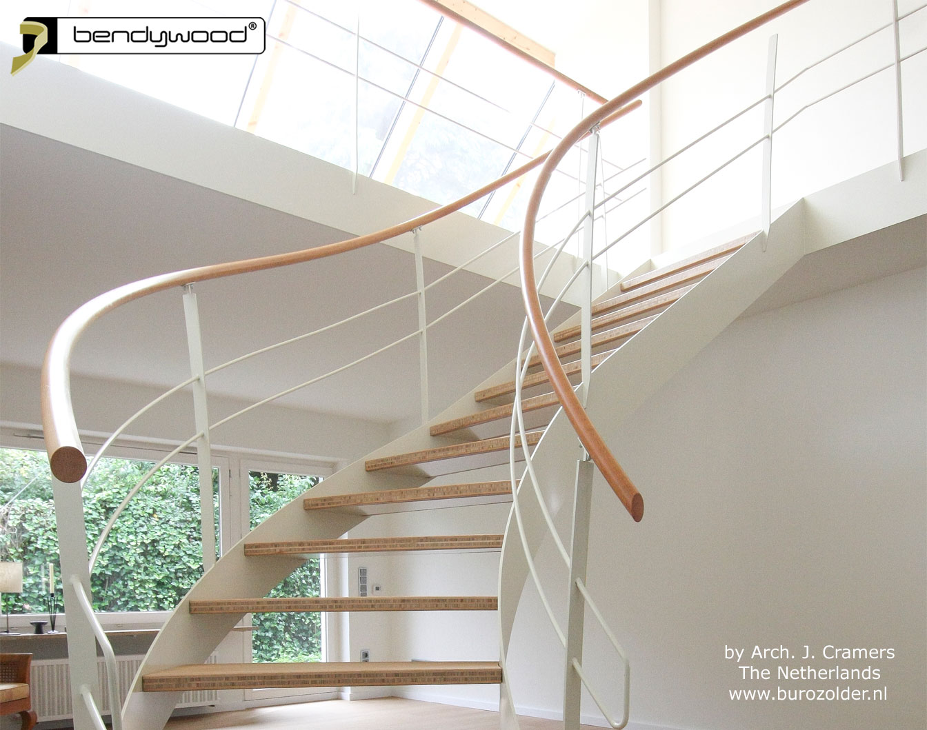 Bending wood Bendywood® - stairs with bending handrails