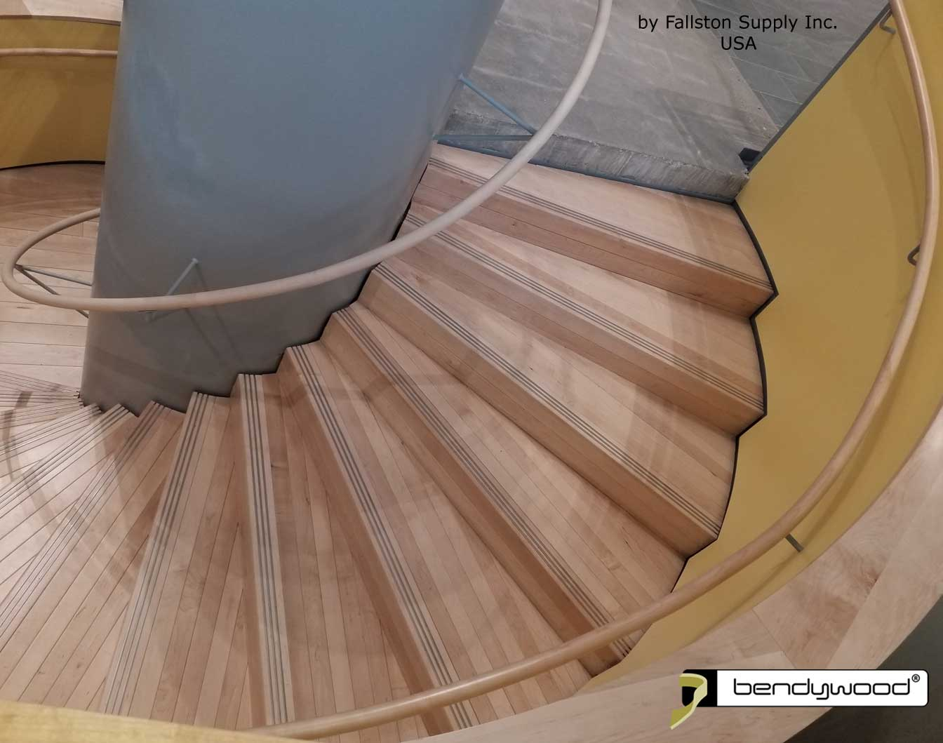 Bending wood Bendywood® - round wooden bending handrails for spiral staircase