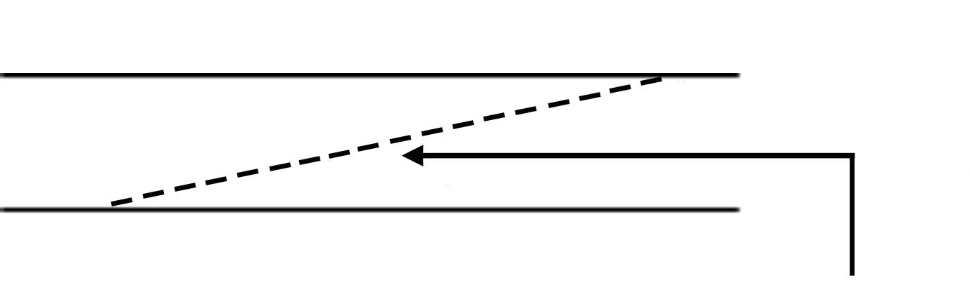 Drawing diagonal joint handrail